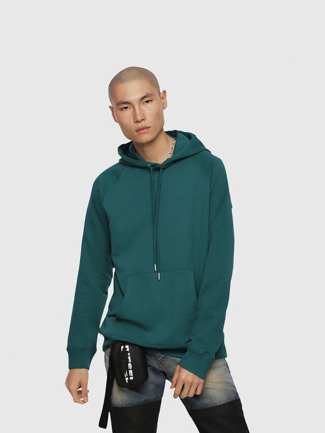 Diesel - S-GIM-HOOD-A, Dark Green - Sweaters - Image 1