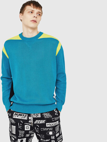 Diesel - K-MELT, Azure - Knitwear - Image 1