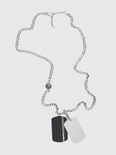 Diesel - DX1040, Silver - Necklaces - Image 1