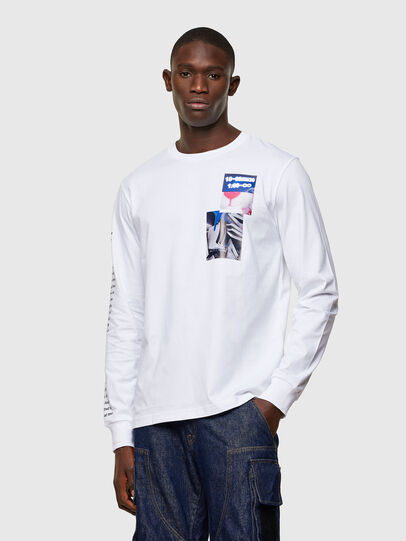 Diesel - T-JUST-LS-A10, White - T-Shirts - Image 1