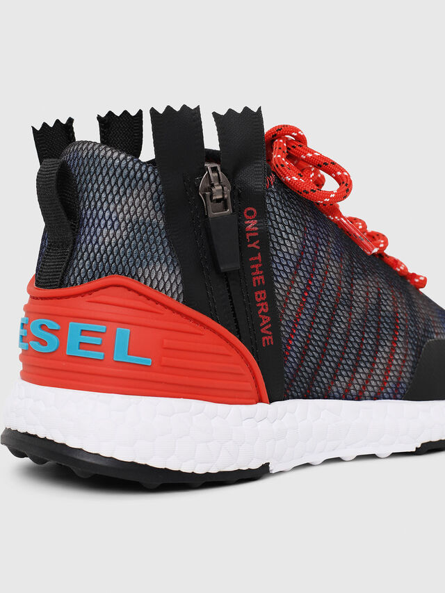 Diesel - SN MID 11 S-K CH, Blue/Red - Footwear - Image 4