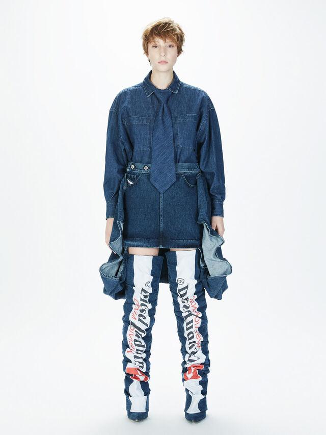 Diesel - SOBS01, Dark Blue - Skirts - Image 6
