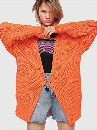 Diesel - M-CRI, Orange - Knitwear - Image 1