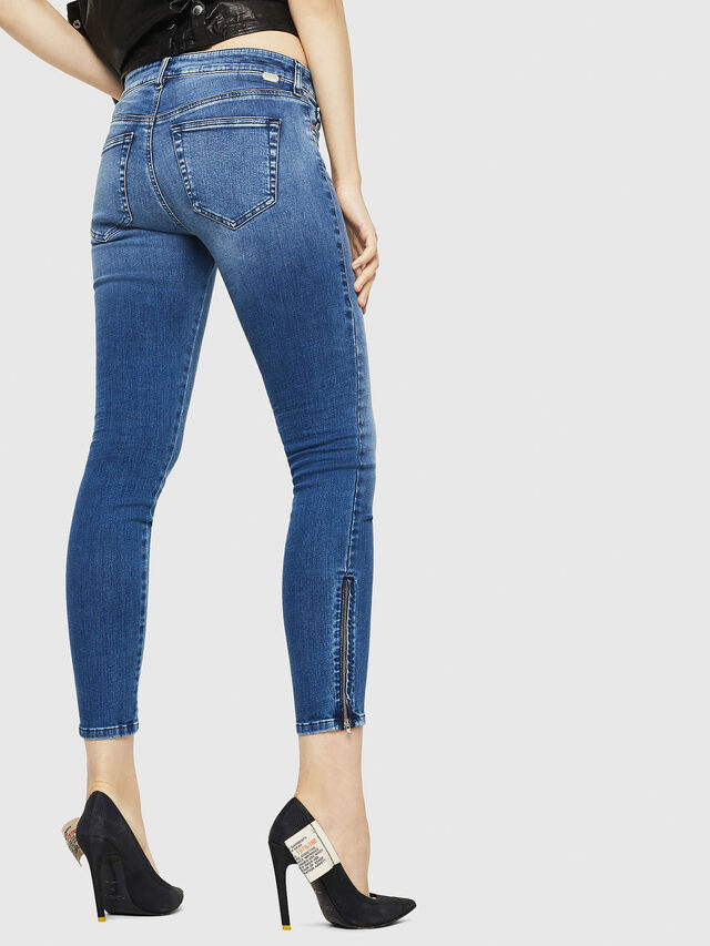Diesel - Slandy Zip 084NM, Medium blue - Jeans - Image 2