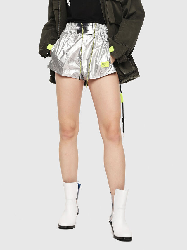 Diesel - S-DEMIBY, Silver - Shorts - Image 1