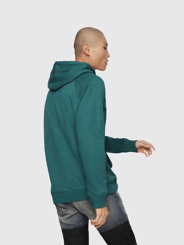 Diesel - S-GIM-HOOD-A, Dark Green - Sweaters - Image 2