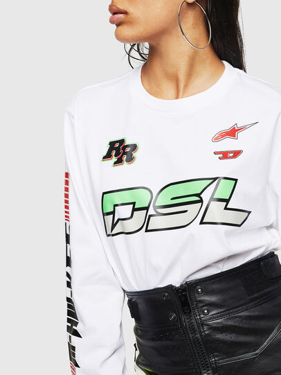 Diesel - ASTARS-T-JUST-LONG-F, White - T-Shirts - Image 6