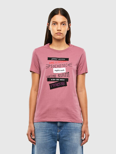 Diesel - T-SILY-V20, Pink - T-Shirts - Image 1