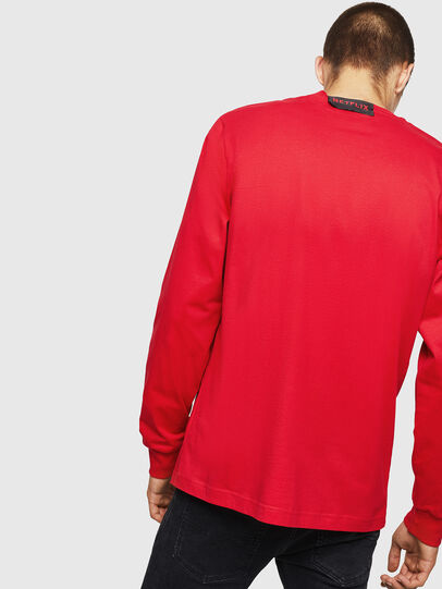 Diesel - LCP-T-JUST-LS-PALERM, Red - T-Shirts - Image 3