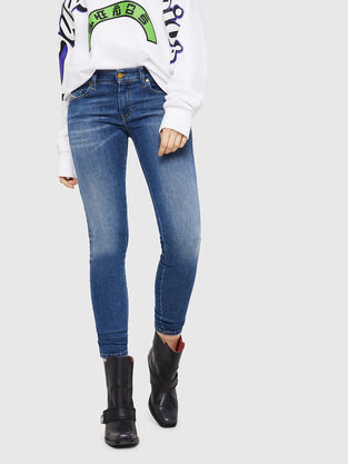 Slandy Low 088AU, Medium blue - Jeans
