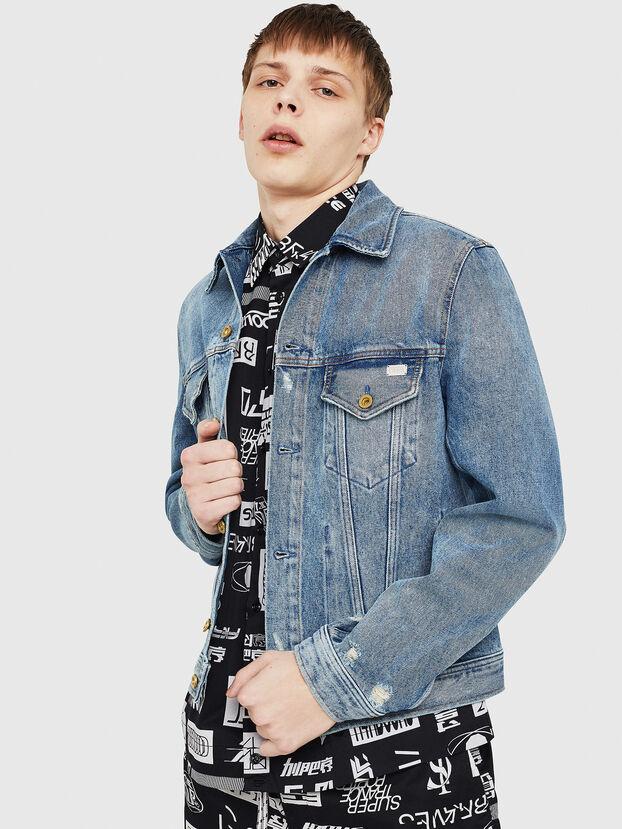 D-BRAY, Blue Jeans - Denim Jackets