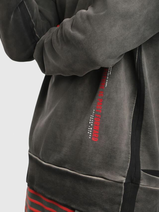 Diesel - S-BAY-YA, Black/Grey - Sweaters - Image 3