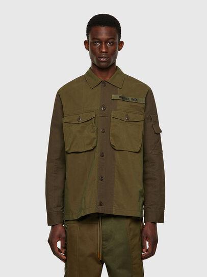 Diesel - S-ADAIR, Olive Green - Shirts - Image 1
