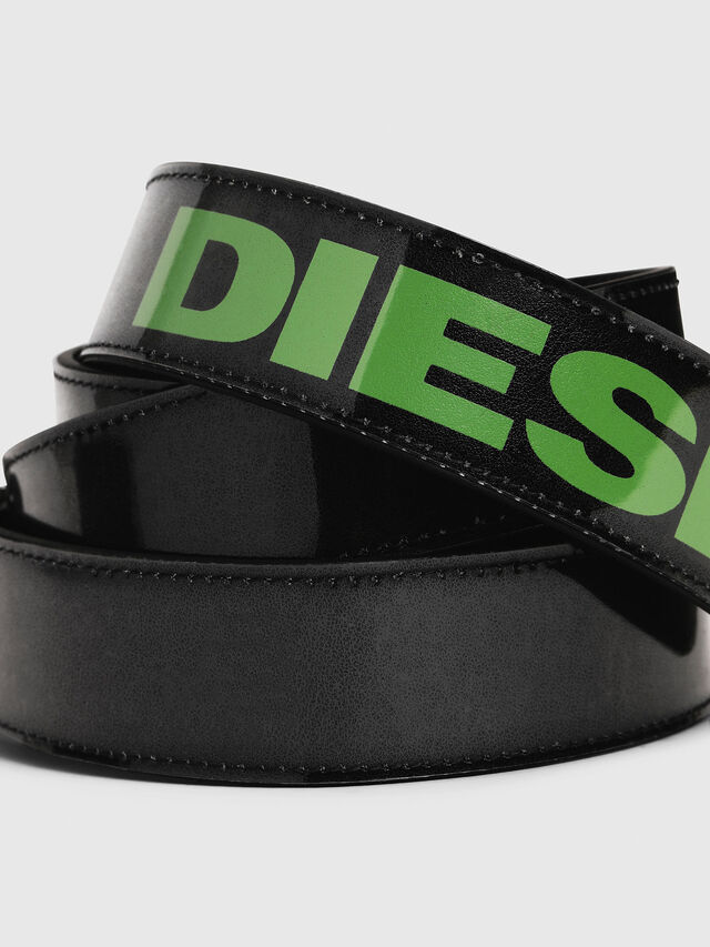 Diesel - B-STIC, Black/Green - Belts - Image 2