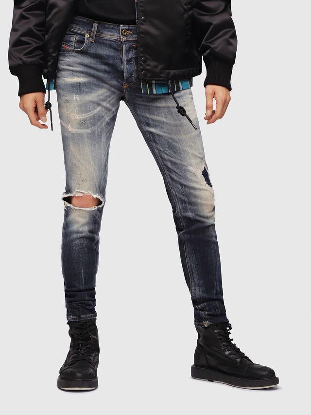 Diesel - Sleenker 069DJ, Dark Blue - Jeans - Image 1