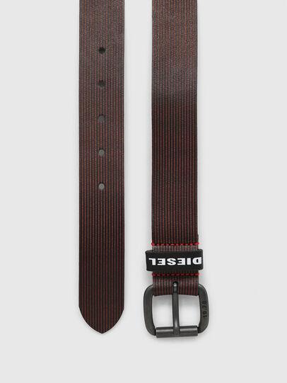Diesel - B-CAVA, Black/Red - Belts - Image 3