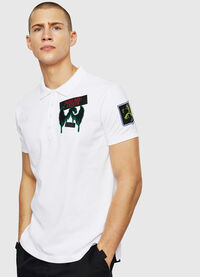 T-POLO-PATCHES, White