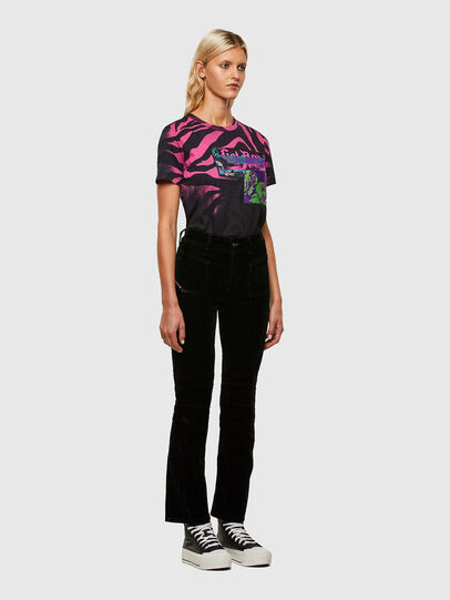 Diesel - T-SILY-R3, Black/Pink - T-Shirts - Image 5