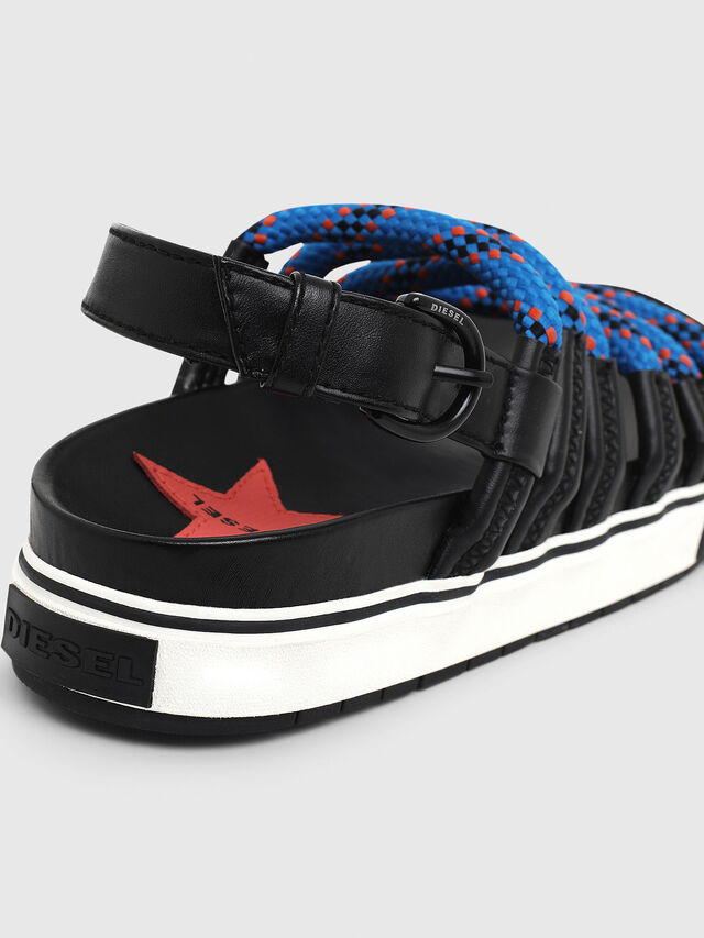Diesel - SA-GRAND LC W, Black/Blue - Sandals - Image 4