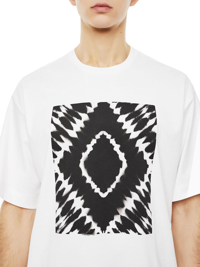 Diesel - TEORIA-TIEDYESQUARE, White - T-Shirts - Image 3