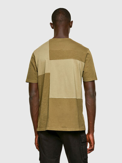 Diesel - T-ATCHWORK, Military Green - T-Shirts - Image 2