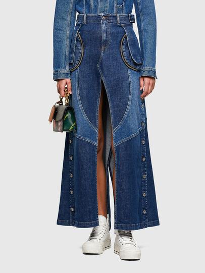 Diesel - DE-PEN, Medium blue - Skirts - Image 1