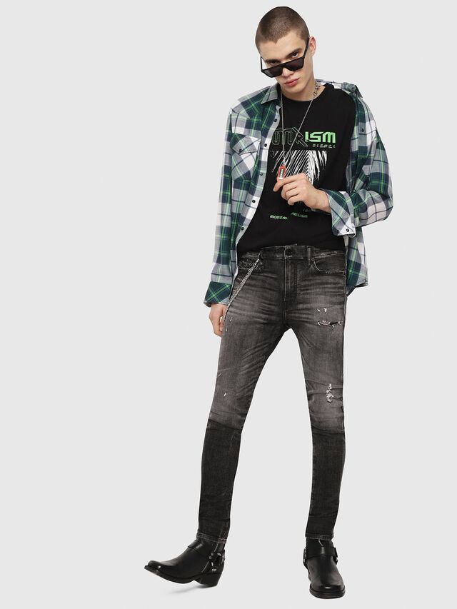 Diesel - S-EAST-LONG-F, Green/Grey - Shirts - Image 5