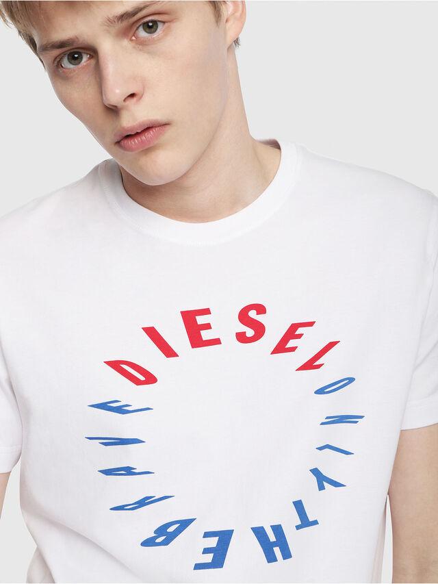 Diesel - T-DIEGO-Y2, White - T-Shirts - Image 3