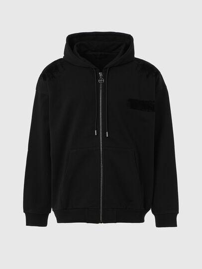 Diesel - S-HENON-ZIP, Black - Sweaters - Image 1