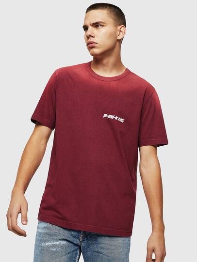 Diesel - T-DIKEL, Bordeaux - T-Shirts - Image 1