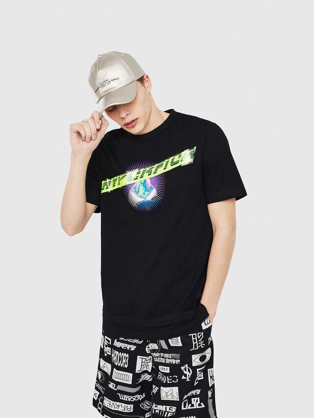 Diesel - T-YORI, Black - T-Shirts - Image 1