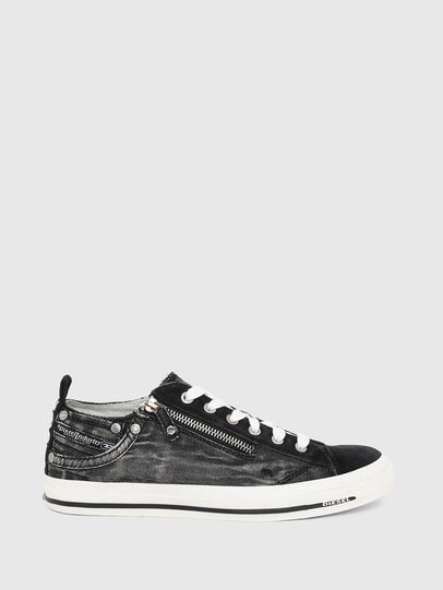 Diesel - EXPO-ZIP LOW W, Black Jeans - Sneakers - Image 1