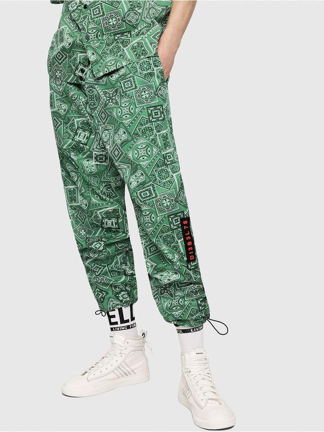 Diesel - P-TOLLER-NP, Green - Pants - Image 1