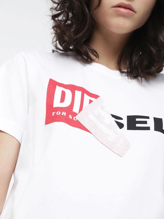 Diesel T-DIEGO-QA-FL, White - T-Shirts - Image 3