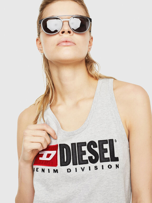 Diesel - T-SILK, Light Grey - Tops - Image 3