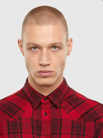 Diesel - S-EAST-LONG-TUB, Black/Red - Shirts - Image 3