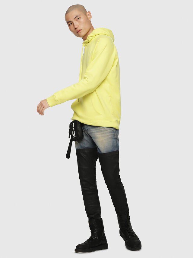 Diesel - S-GIM-HOOD-A, Light Yellow - Sweaters - Image 4