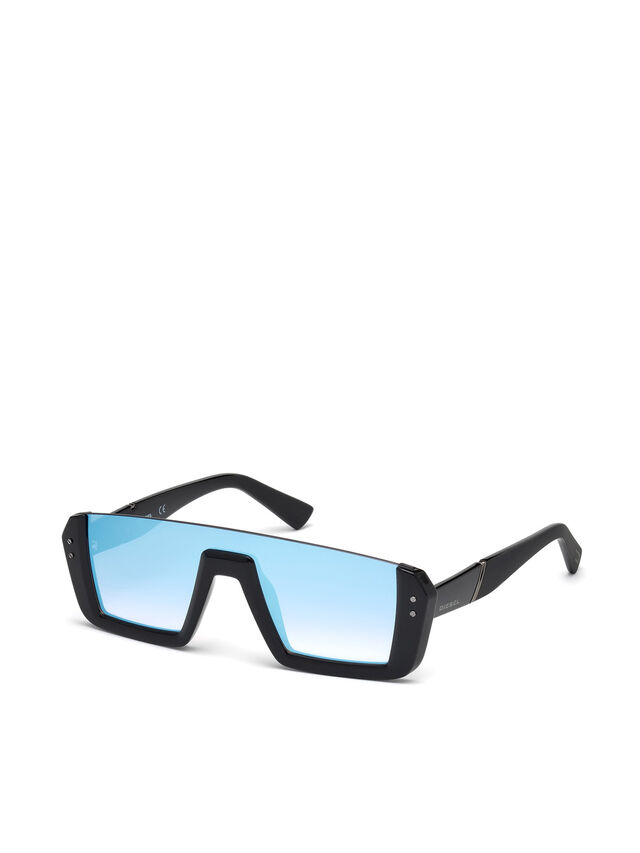 Diesel - DL0248, Bright Black - Sunglasses - Image 4