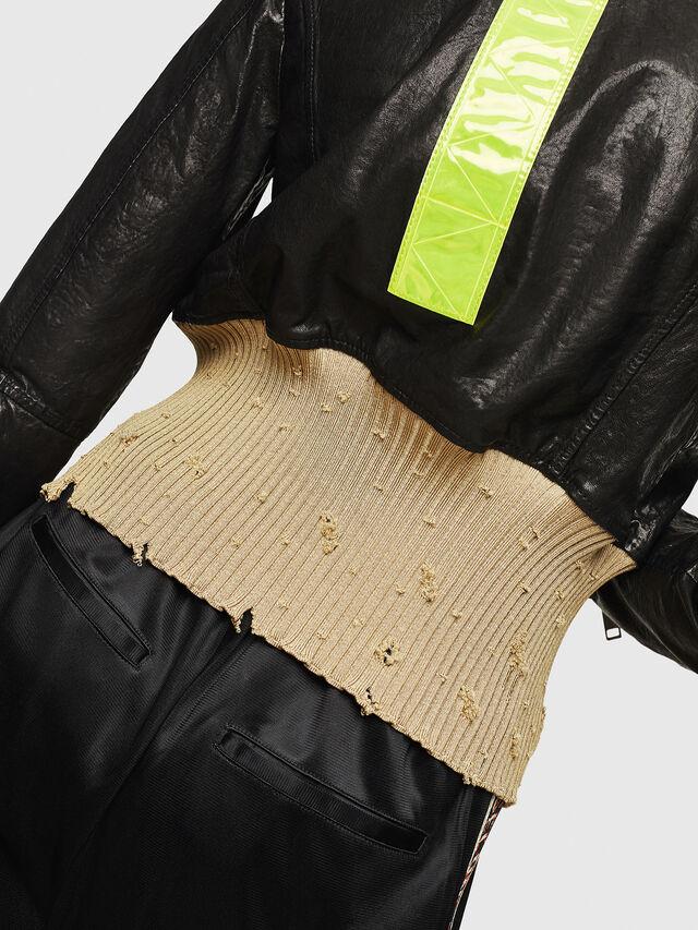 Diesel - L-LYS, Black/Beige - Leather jackets - Image 4