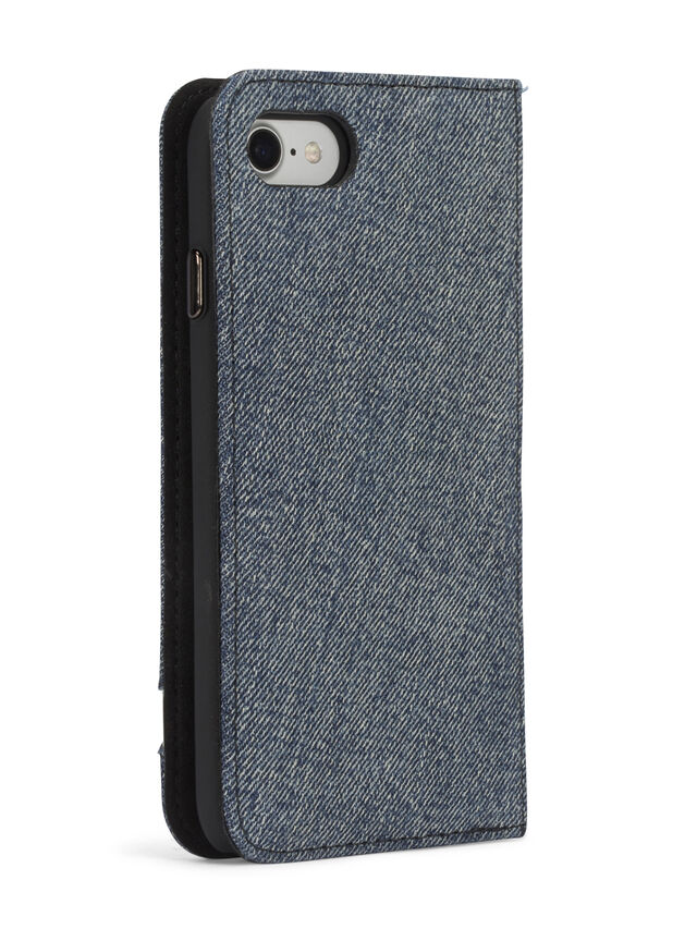 Diesel DENIM IPHONE 8/7 FOLIO, Blue Jeans - Flip covers - Image 6