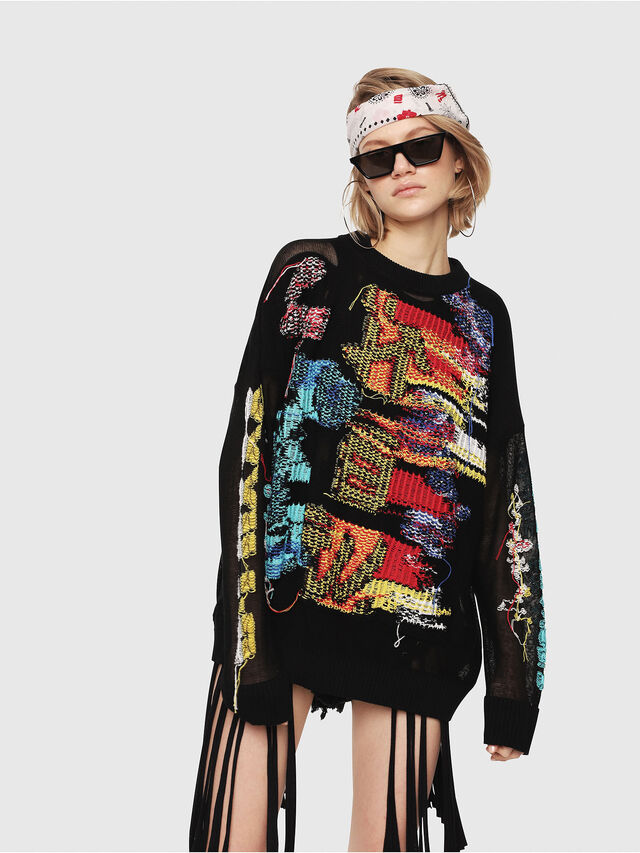 Diesel - M-NOW, Multicolor/Black - Knitwear - Image 1