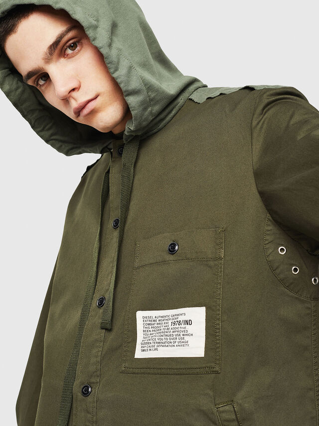 Diesel - S-EIKU, Military Green - Shirts - Image 3