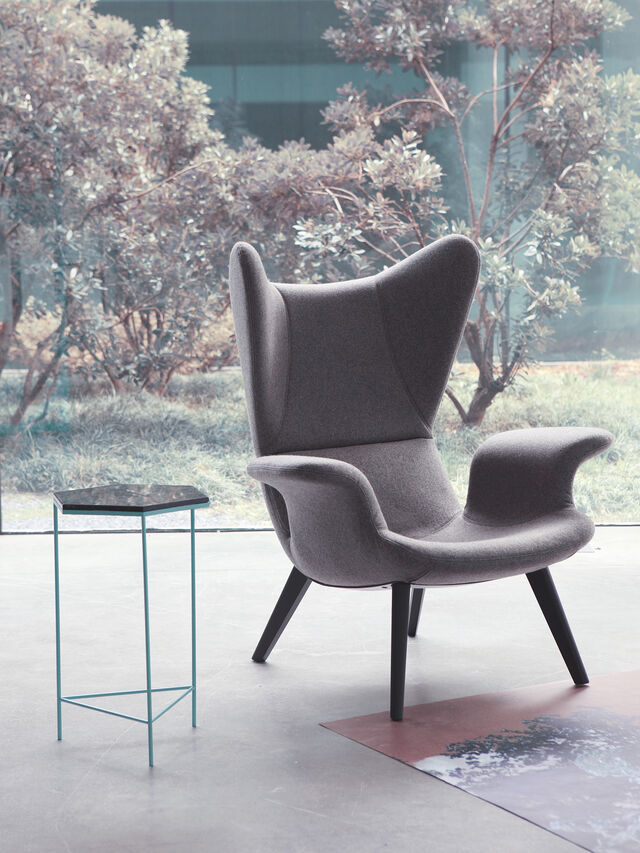 Living DL2H05 LONGWAVE, Grey - Armchairs - Image 4
