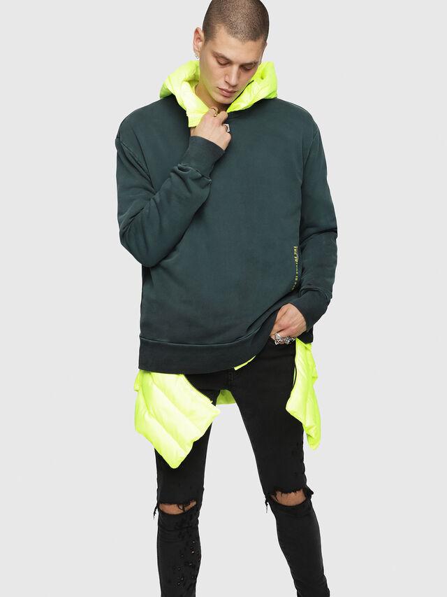 Diesel - S-BAY-YA, Dark Green - Sweaters - Image 1