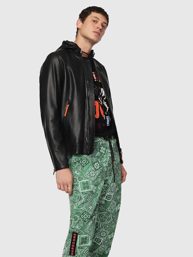 Diesel - L-RESTIL, Black - Leather jackets - Image 1