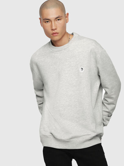 Diesel - S-LINK, Light Grey - Sweaters - Image 1
