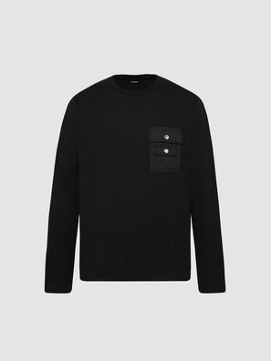 T-TASK-LS, Black - T-Shirts