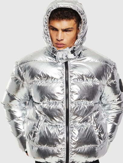Diesel - W-SMITH-SILVER, Silver - Winter Jackets - Image 1