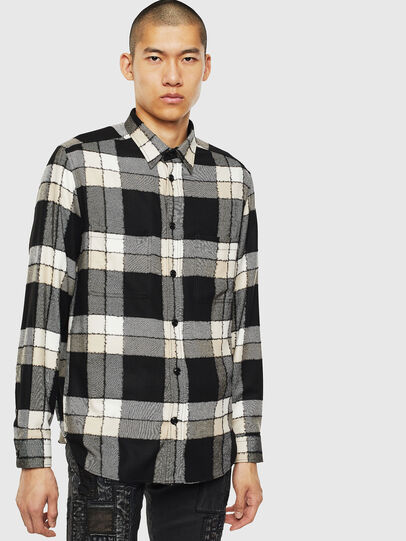 Diesel - S-MILLER-COUPE, Black/White - Shirts - Image 1