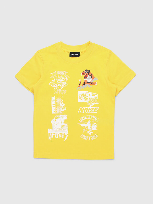 Diesel - TUCSEB-R, Yellow - T-shirts and Tops - Image 1